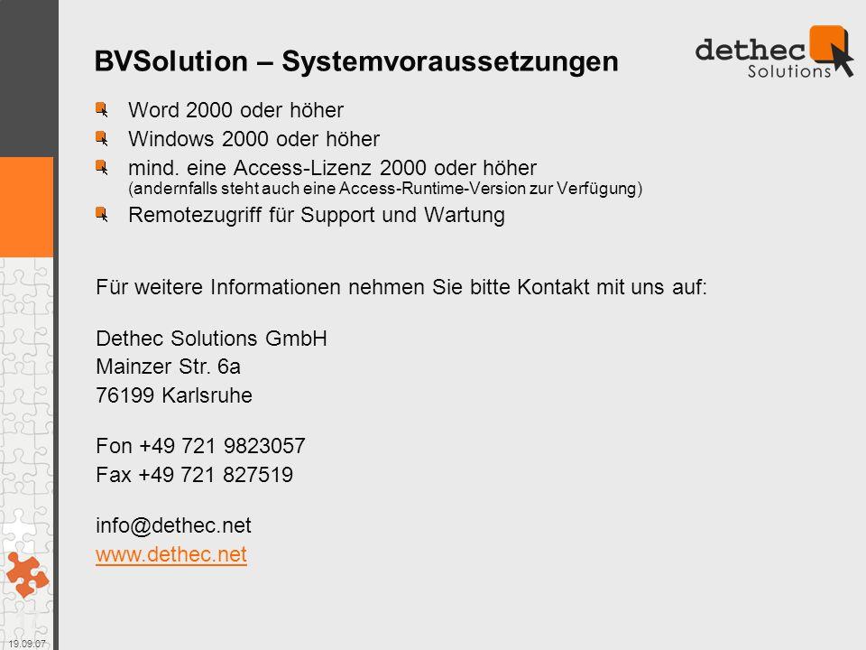 17 19.09.07 Word 2000 oder höher Windows 2000 oder höher mind.
