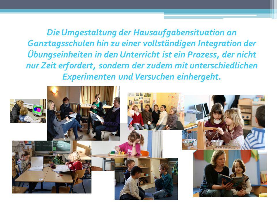 Die Umgestaltung der Hausaufgabensituation an Ganztagsschulen hin zu einer vollständigen Integration der Übungseinheiten in den Unterricht ist ein Pro