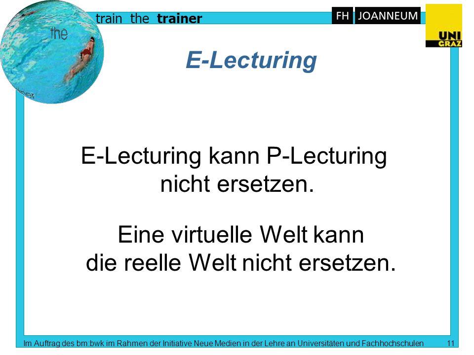 train the trainer Im Auftrag des bm:bwk im Rahmen der Initiative Neue Medien in der Lehre an Universitäten und Fachhochschulen 10 Erwartungshaltung (9