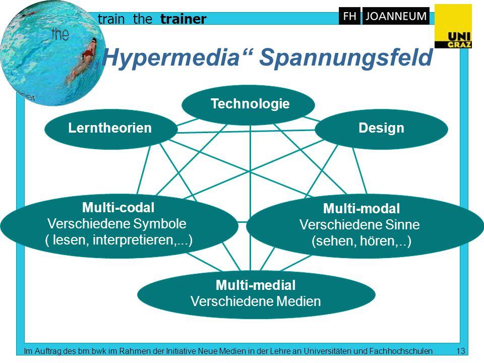 train the trainer Im Auftrag des bm:bwk im Rahmen der Initiative Neue Medien in der Lehre an Universitäten und Fachhochschulen 12 Einsatzmöglichkeiten