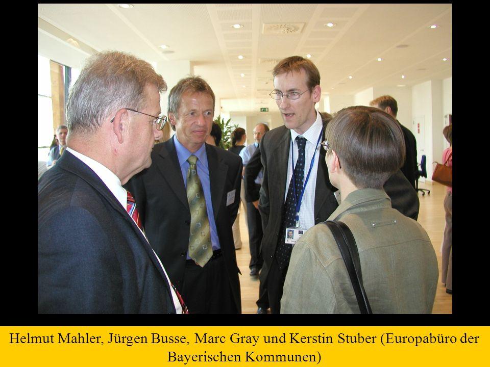 Helmut Mahler, Jürgen Busse, Marc Gray und Kerstin Stuber (Europabüro der Bayerischen Kommunen)