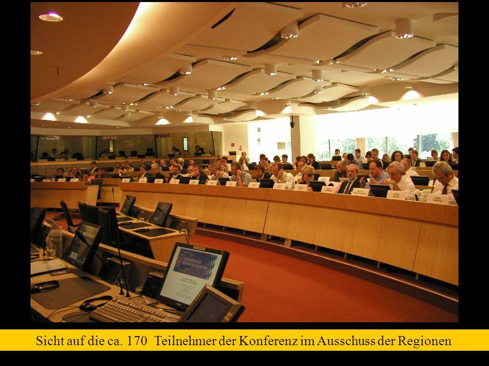 Sicht auf die ca. 170 Teilnehmer der Konferenz im Ausschuss der Regionen