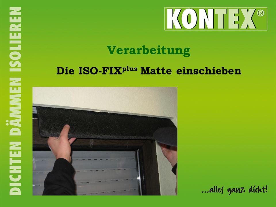 Die ISO-FIX plus Matte einschieben Verarbeitung