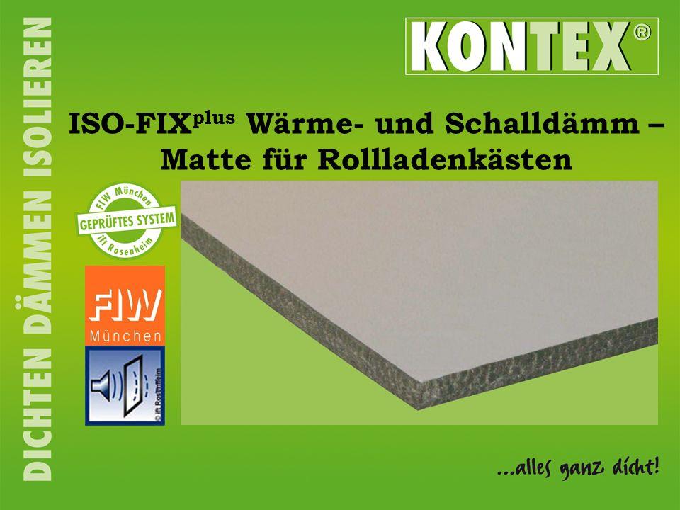 ISO-FIX plus Wärme- und Schalldämm – Matte für Rollladenkästen