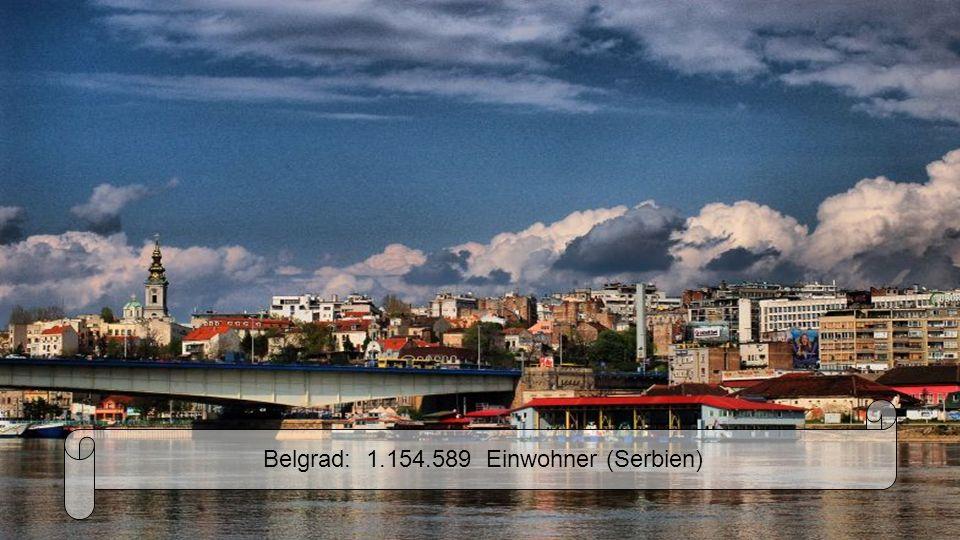 Sofia: 1.204.685 Einwohner (Bulgarien)
