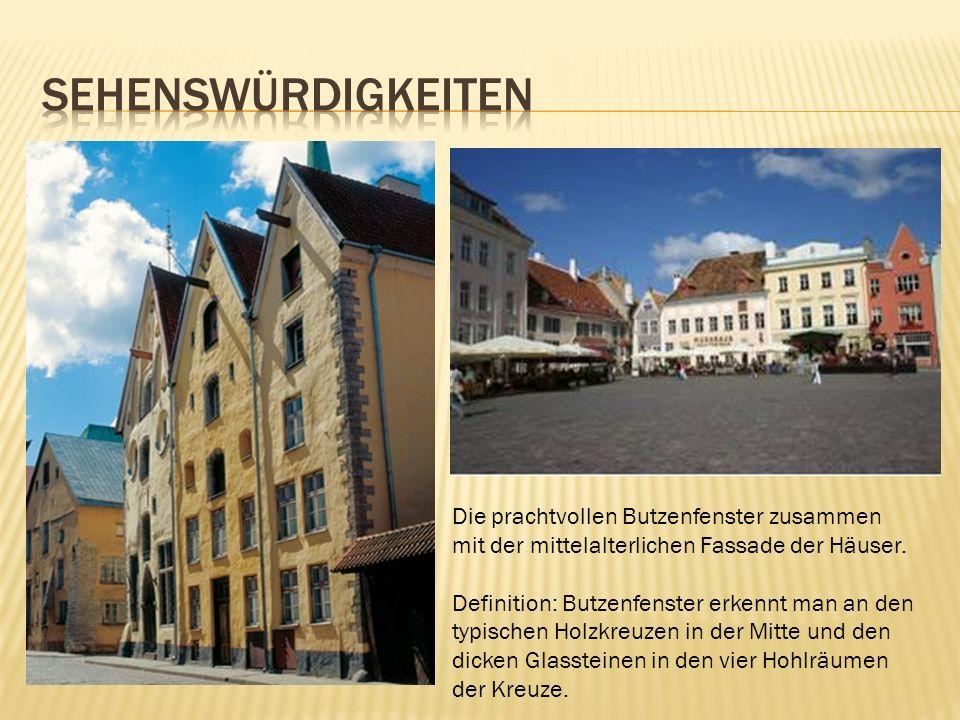 Die prachtvollen Butzenfenster zusammen mit der mittelalterlichen Fassade der Häuser. Definition: Butzenfenster erkennt man an den typischen Holzkreuz