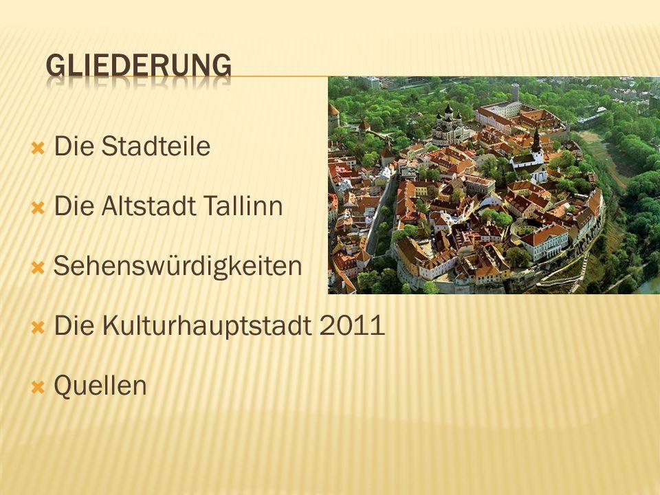 Bereich Altstadt und Domberg Zentraler Bereich Tallinns Touristengebiet