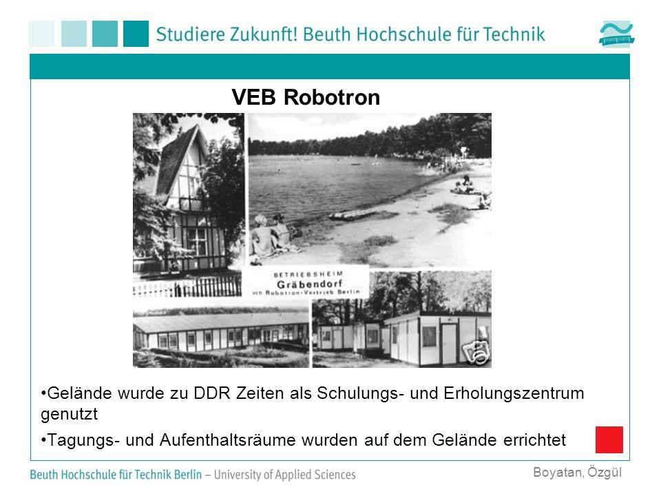 VEB Robotron Gelände wurde zu DDR Zeiten als Schulungs- und Erholungszentrum genutzt Tagungs- und Aufenthaltsräume wurden auf dem Gelände errichtet Bo