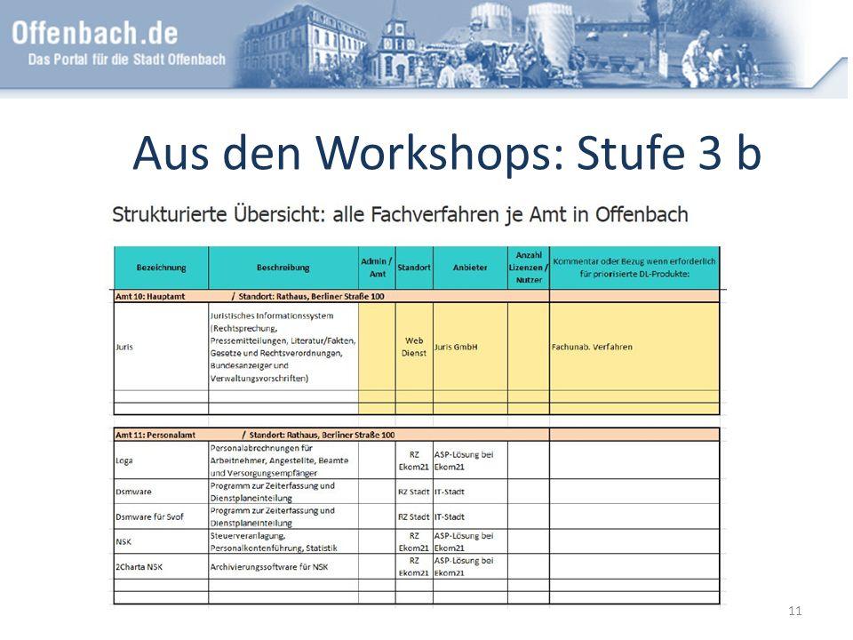 Aus den Workshops: Stufe 3 b 11