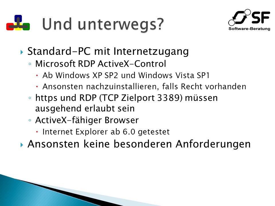 Minimal: Firewall, internes Netzwerk Minimaler Hardwareeinsatz Internet Firewall Domänencontroller Datenbankserver Webserver Terminalserver