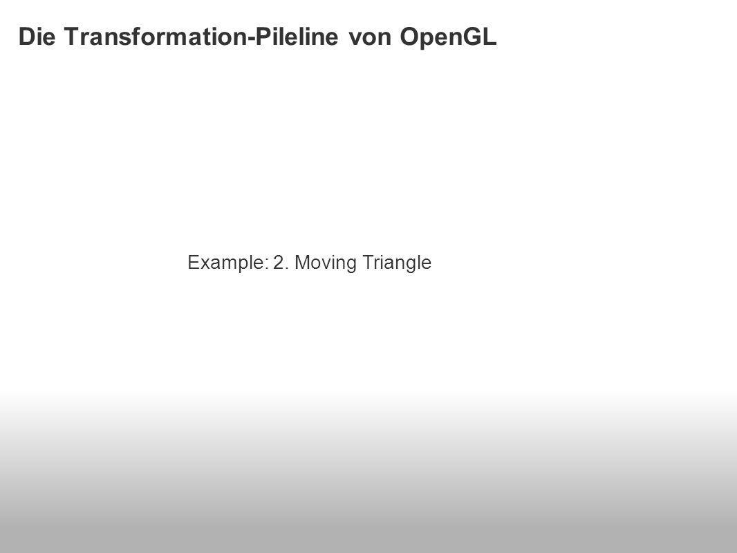 Die Transformation-Pileline von OpenGL Example: 2. Moving Triangle