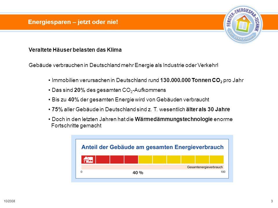 Immobilien verursachen in Deutschland rund 130.000.000 Tonnen CO 2 pro Jahr Das sind 20% des gesamten CO 2 -Aufkommens Bis zu 40% der gesamten Energie