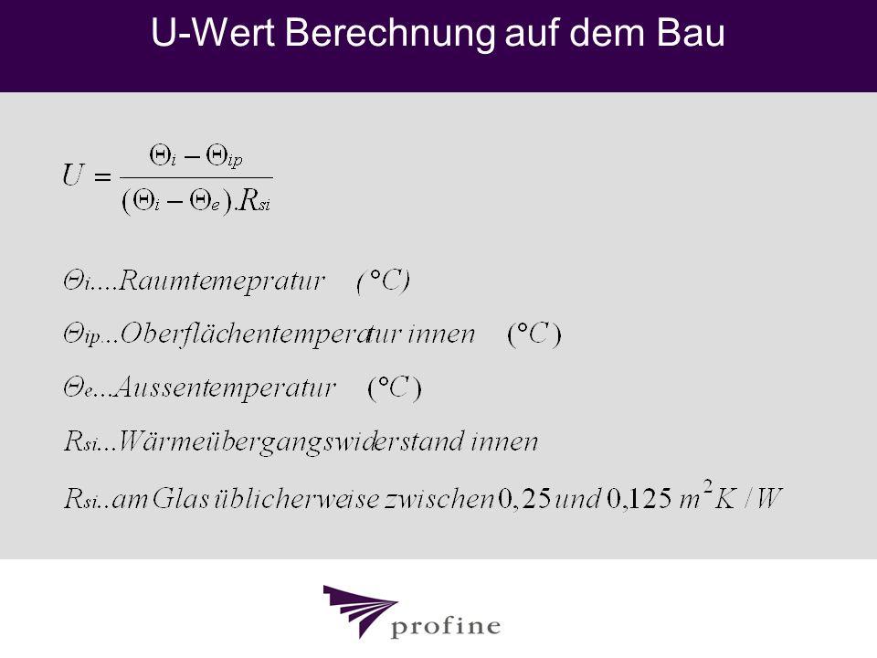 U-Wert Berechnung auf dem Bau