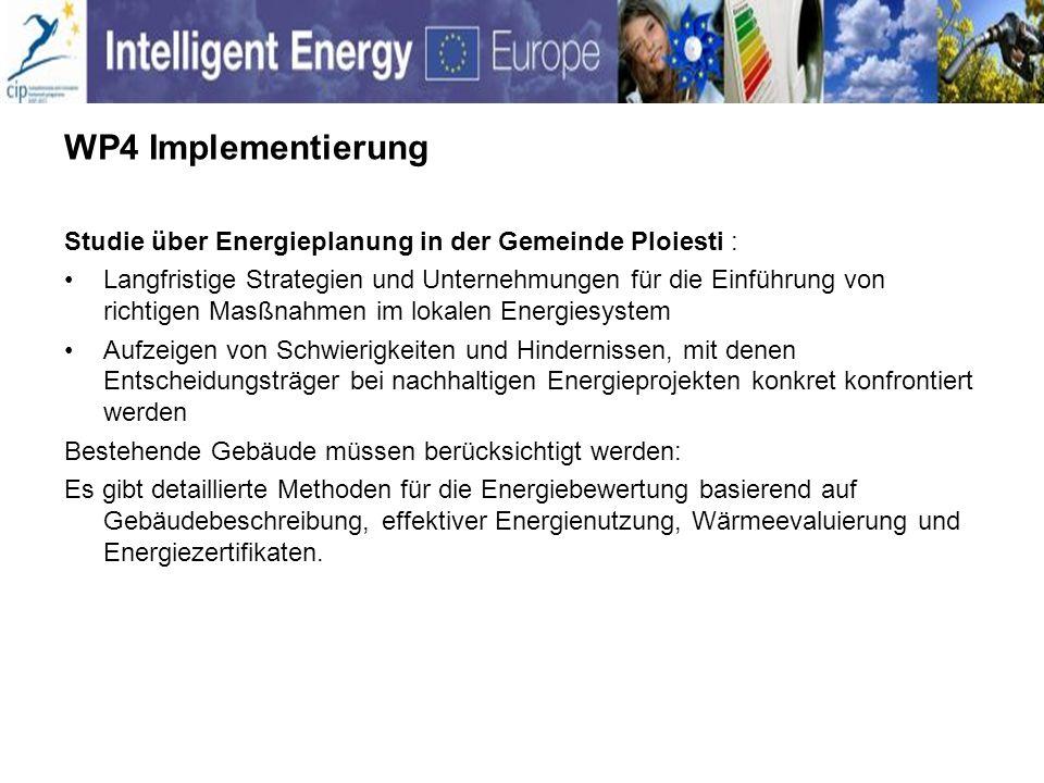 WP4 Implementierung Studie über Energieplanung in der Gemeinde Ploiesti : Langfristige Strategien und Unternehmungen für die Einführung von richtigen