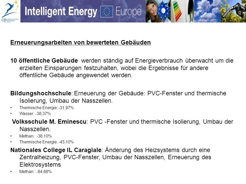Theatre T.Caragiu: Elektroenergie: -1,66% Volksschule E.