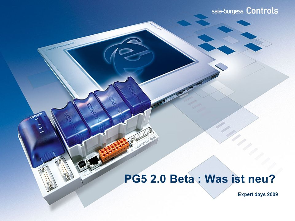 PG5 2.0 Beta : Was ist neu? Expert days 2009