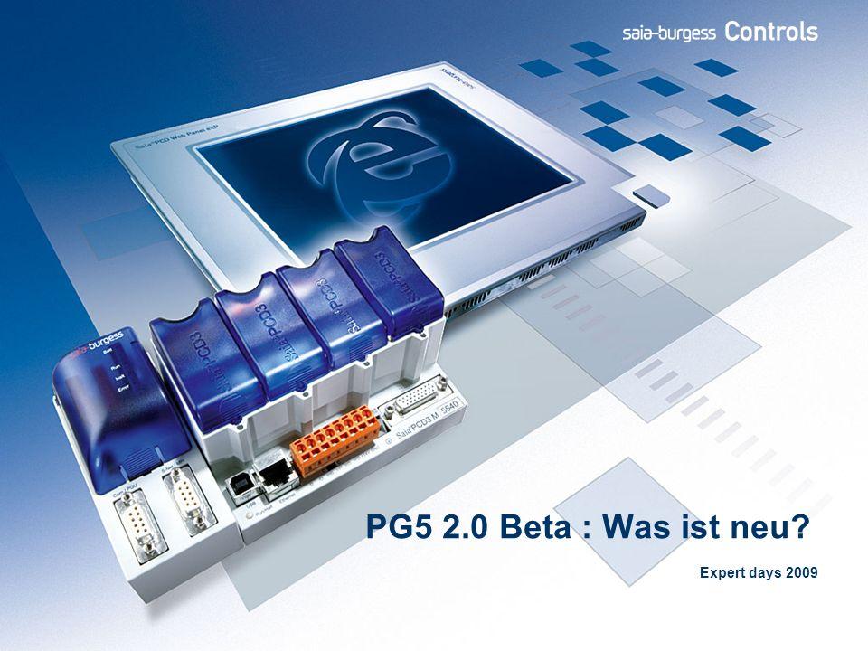 42 PG5 2.0: What s new Zu beachtende Punkte Bitte beachten Sie, dass sich PG5 2.0 momentan in Beta Phase befindet.