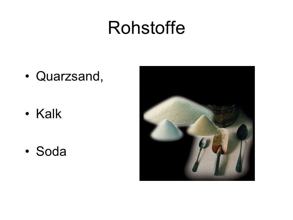 Rohstoffe Quarzsand, Kalk Soda
