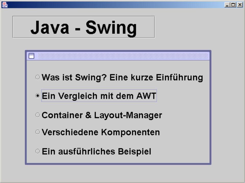 //Main method public static void main(String[] args) { try { UIManager.setLookAndFeel(UIManager.getSystemLookAndFeel ClassName()); } catch(Exception e) { e.printStackTrace(); } new AnalyseProgramm(); } Die Klasse AnalyseProgramm: TEIL 2 main-Methode Erzeugung des Fensters