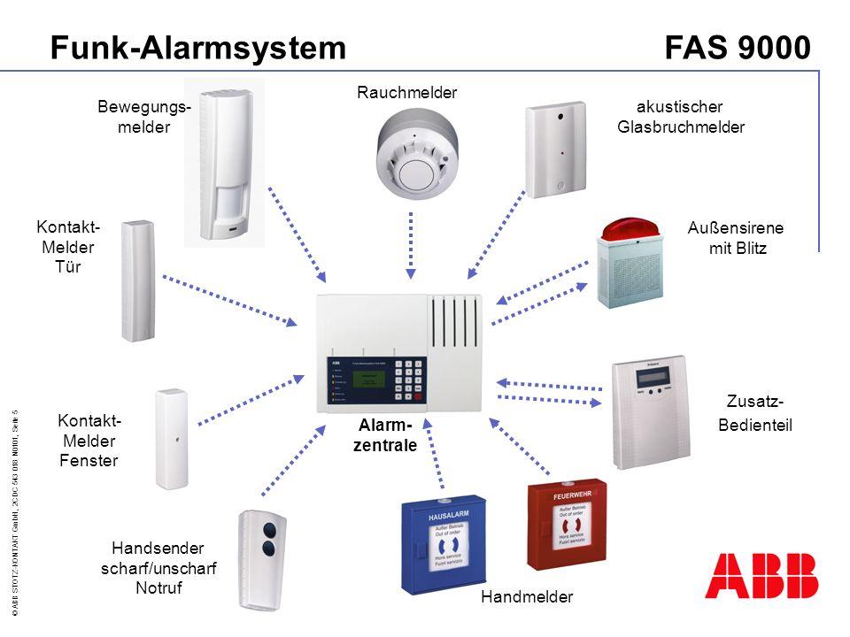 © ABB STOTZ-KONTAKT GmbH, 2CDC 543 018 N0101, Seite 16 Sirenenkombination im Aluminium-Gehäuse Integrierte Antenne Lautstärke > 100 dB(A) Deckel- und Abreisskontakt Incl.