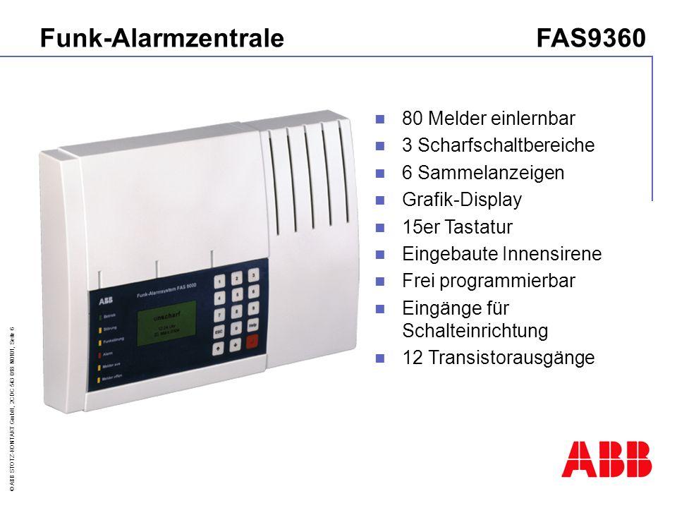 © ABB STOTZ-KONTAKT GmbH, 2CDC 543 018 N0101, Seite 17 FAS 9000 - Zentrale-Bedienfeld