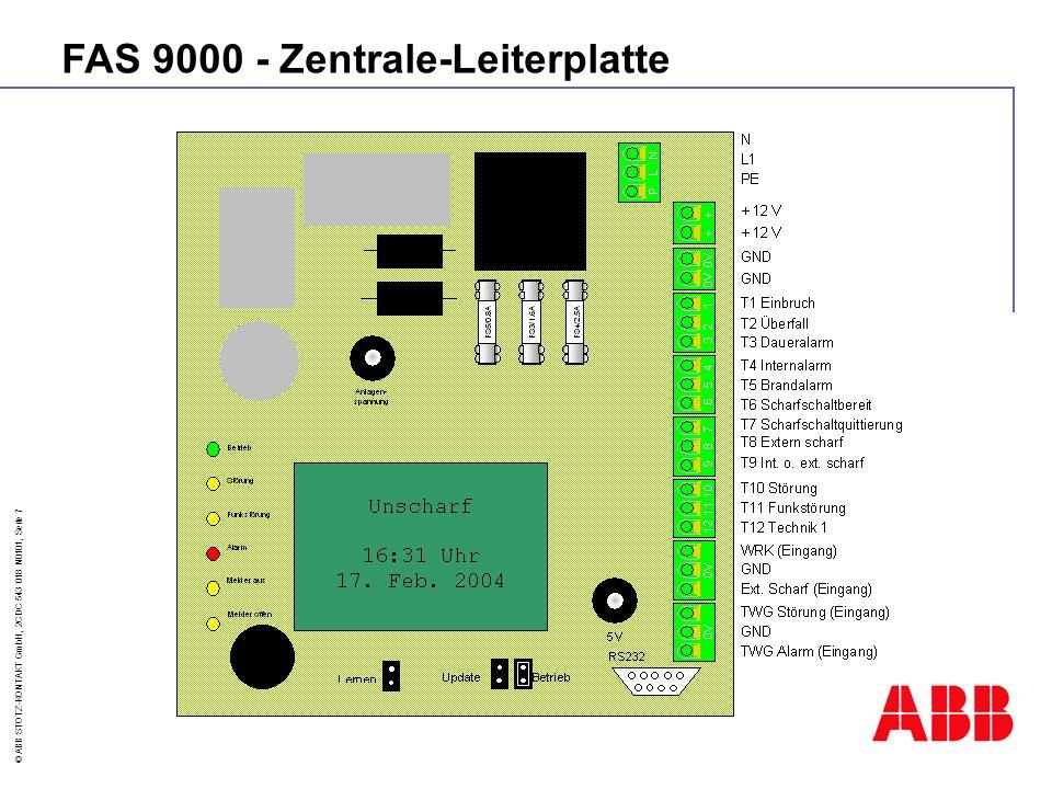 © ABB STOTZ-KONTAKT GmbH, 2CDC 543 018 N0101, Seite 8 Reichweite 10 m Öffnungswinkel ca.