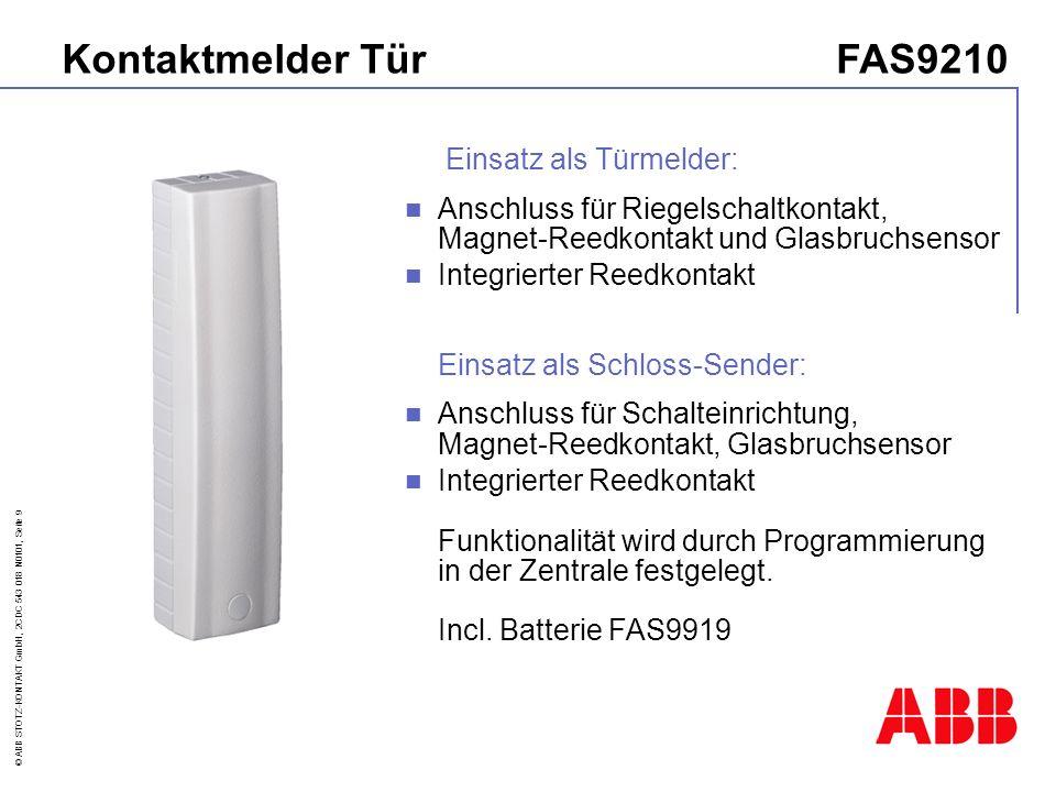 © ABB STOTZ-KONTAKT GmbH, 2CDC 543 018 N0101, Seite 20 FAS 9000 - Zentrale-Bediener-Ebene 1=int.