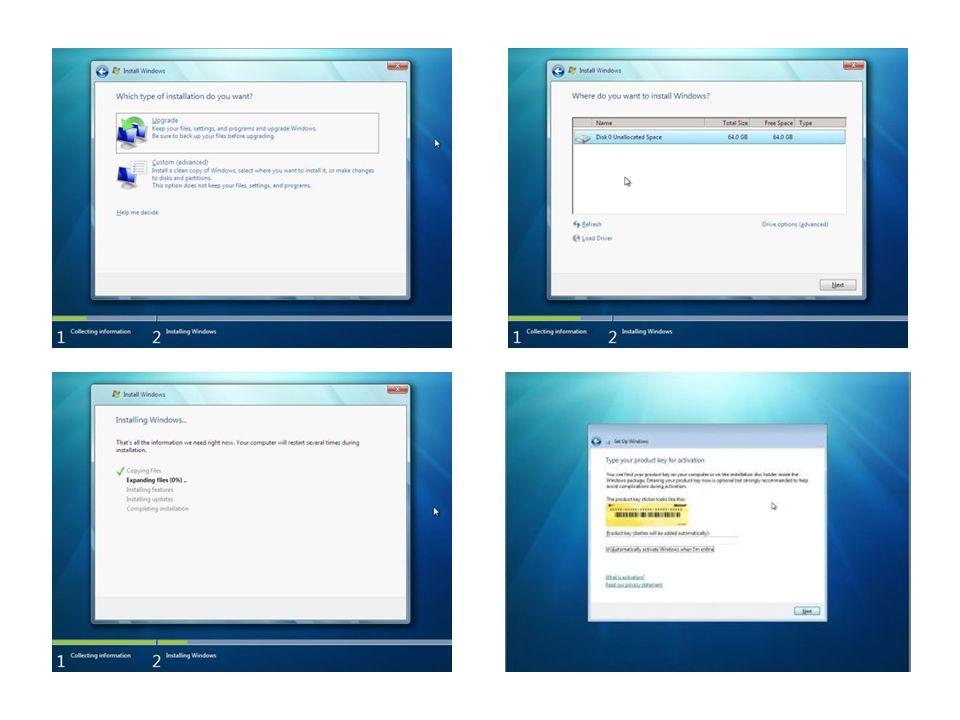 Neuerungen in Windows 7 Internet Explorer 8 Verbesserte Taskleiste und Vollbild-Vorschaufenster Sprunglisten Verbesserter Desktop Einrastfunktion Schütteln Windows Search Bessere Geräteverwaltung Heimnetzgruppe Verfügbare Netzwerke anzeigen Skalierbare Benutzerkontensteuerung Virtuelle Bibliotheken Windows XP an Bord