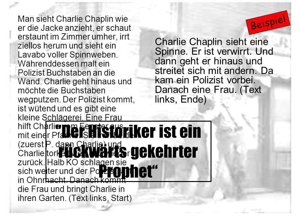Man sieht Charlie Chaplin wie er die Jacke anzieht, er schaut erstaunt im Zimmer umher, irrt ziellos herum und sieht ein Lavabo voller Spinnweben. Wäh