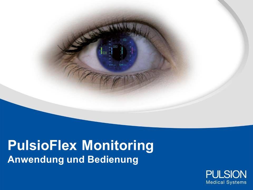 PulsioFlex Monitoring Anwendung und Bedienung