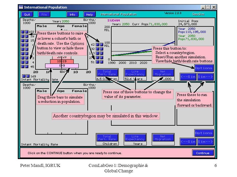 Peter Mandl, IGRUKComLabGeo 1: Demographie & Global Change 17 Multi-Media Präsentation Klimawandel FRATER, H.