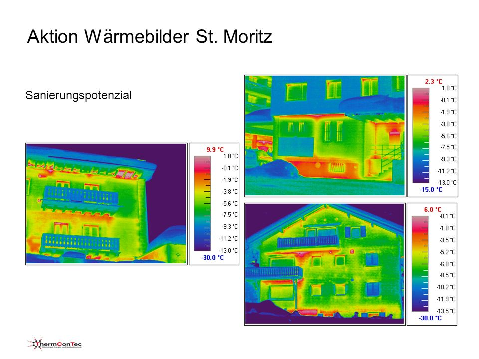 Aktion Wärmebilder St. Moritz Sanierungspotenzial