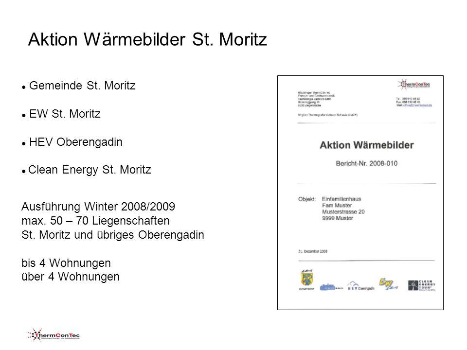 Aktion Wärmebilder St. Moritz Speicherung Sonneneinstrahlung