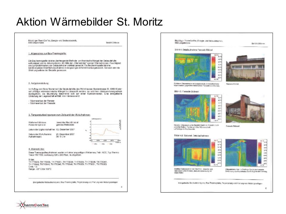 Aktion Wärmebilder St. Moritz Gebäudehülle mit guter Wärmedämmung