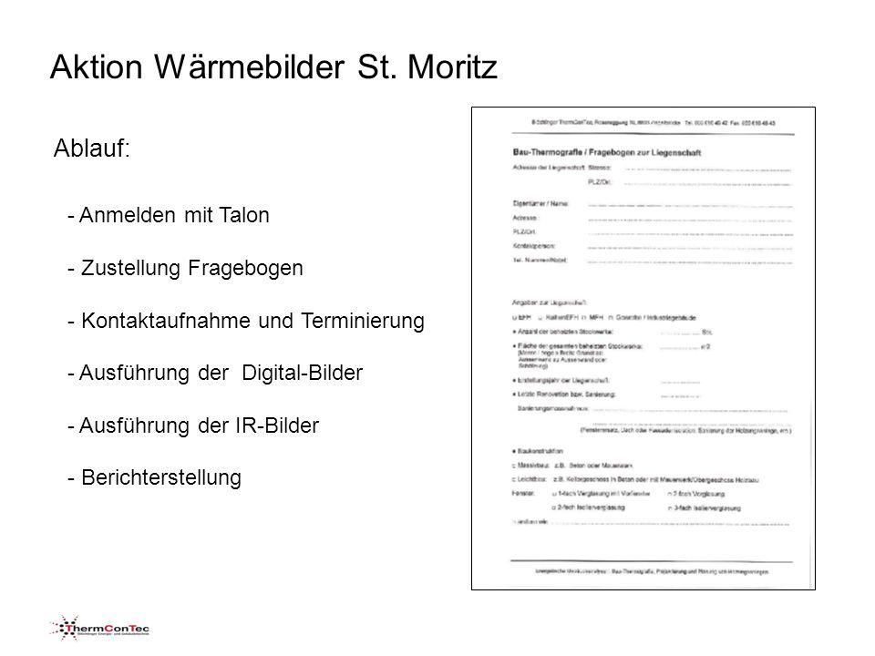 Aktion Wärmebilder St. Moritz Detailabklärung Fassade Wärmebrücken empfohlen