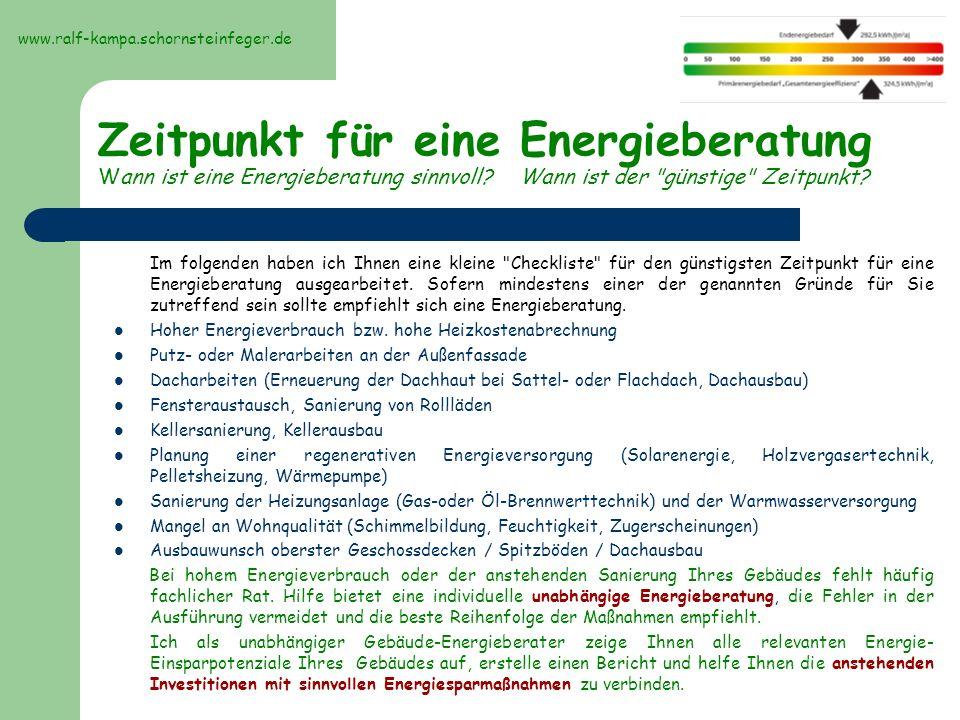 Als Gebäude-Energieberater bin ich für Sie in folgenden Bereichen tätig: Ausstellung des Energieausweises nach der EnEV 2007 für Alt- bzw.