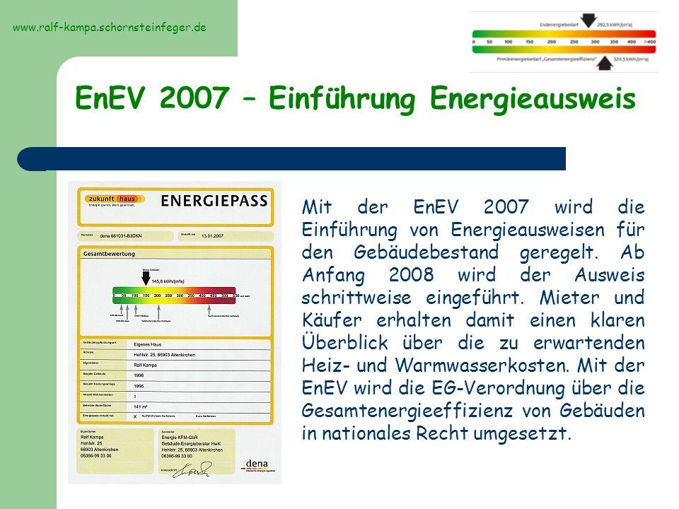 Aussehen, Bilder des Energieausweises Modernisierungs- empfehlungen www.ralf-kampa.schornsteinfeger.de