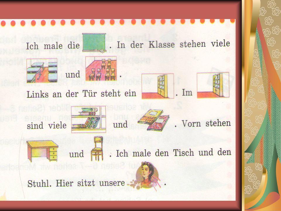 Bildet bitte die Sätze mit Hilfe des Schemas. 1.4. 2. 5. 3.3. 6.