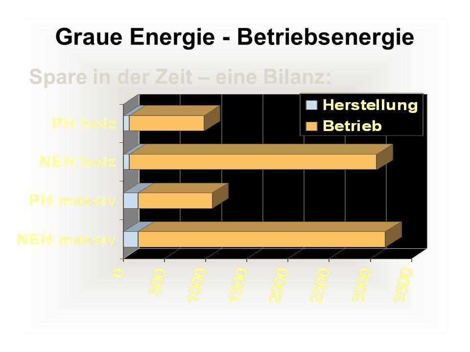 Graue Energie - Betriebsenergie Spare in der Zeit – eine Bilanz: