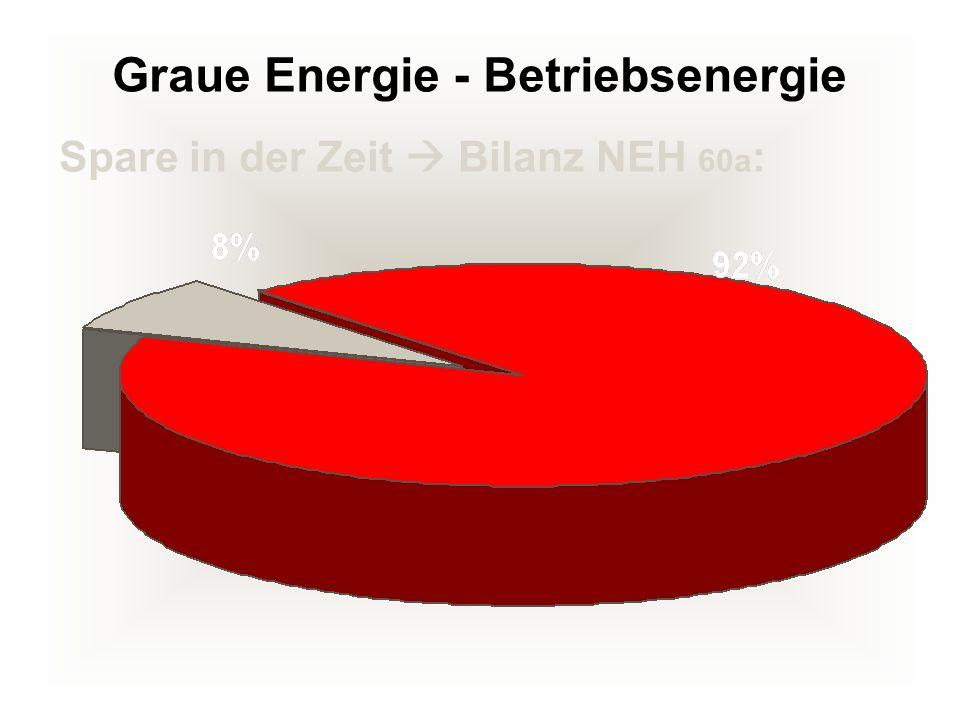 Graue Energie - Betriebsenergie Spare in der Zeit Bilanz NEH 60a :