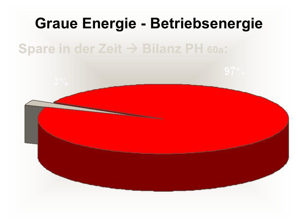 Graue Energie - Betriebsenergie Spare in der Zeit Bilanz PH 60a :