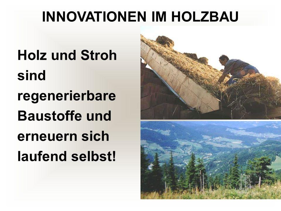 Holz und Stroh sind regenerierbare Baustoffe und erneuern sich laufend selbst!