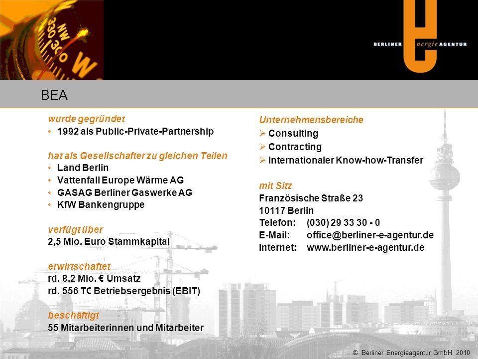 wurde gegründet 1992 als Public-Private-Partnership hat als Gesellschafter zu gleichen Teilen Land Berlin Vattenfall Europe Wärme AG GASAG Berliner Ga