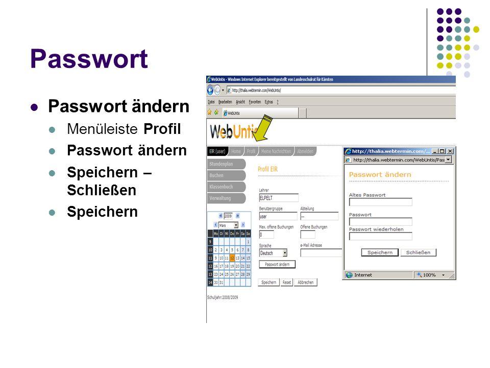 Bildschirmaufbau Menüleiste (oben) Home Tagestext Alle eigenen Unterrichte des aktuellen Tages Profil (persönlich) Abmelden bei Ausstieg.