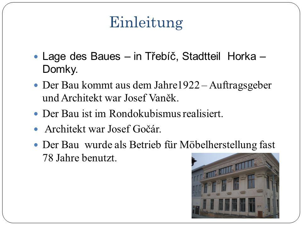 Lage des Baues – in Třebíč, Stadtteil Horka – Domky.