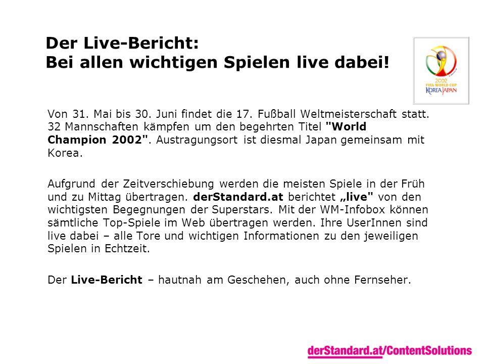 Der Live-Bericht: Bei allen wichtigen Spielen live dabei.