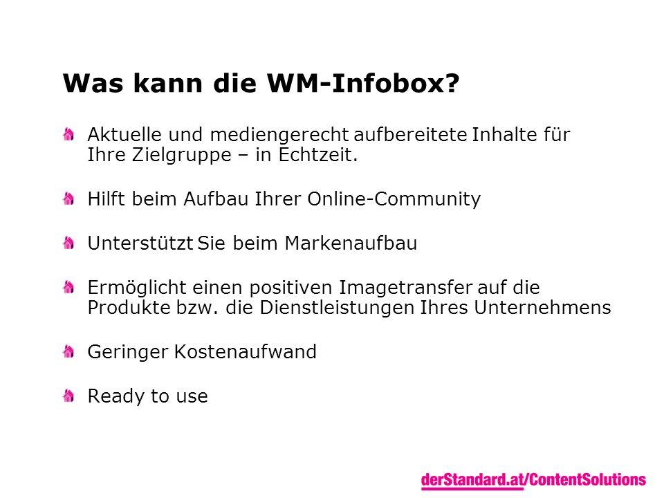 Was kann die WM-Infobox.