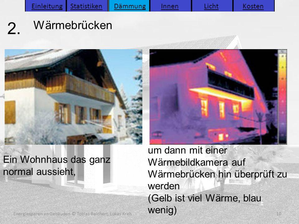 Energiesparen an Gebäuden (C) Tobias Reichert, Lukas Kreh 10 Energiesparen an Gebäuden (C) Tobias Reichert, Lukas Kreh 10 2. 10Energiesparen an Gebäud