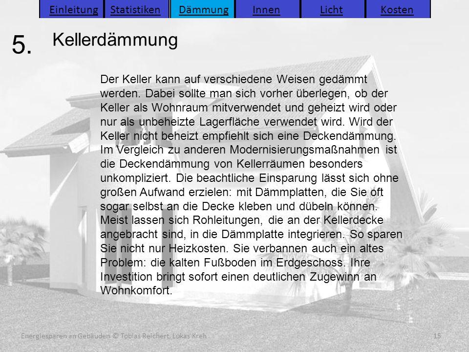 Energiesparen an Gebäuden (C) Tobias Reichert, Lukas Kreh 15 Energiesparen an Gebäuden (C) Tobias Reichert, Lukas Kreh 15 Energiesparen an Gebäuden (C