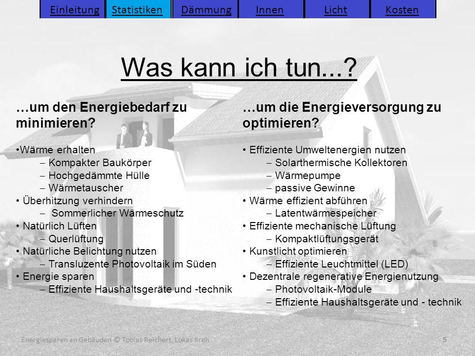 Energiesparen an Gebäuden (C) Tobias Reichert, Lukas Kreh 5 Was kann ich tun...? 5Energiesparen an Gebäuden © Tobias Reichert, Lukas Kreh Einleitung S